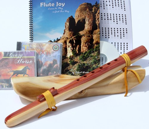 Windpony Key of G, 6-Hole Cedar Native American Style Flute, Book & 3 CDs (Retail Value $159.95)
