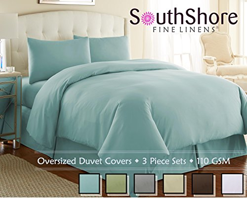 Southshore Fine Linens (Tm) Aspen Springs® 3 Piece Oversized Duvet Cover Set - Sky Blue - King / California King front-1057341