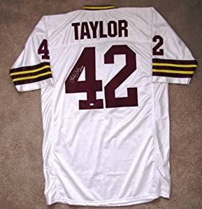 Charley Taylor Autographed Custom Jersey (1972) - Washington Redskins Hall of Fame...