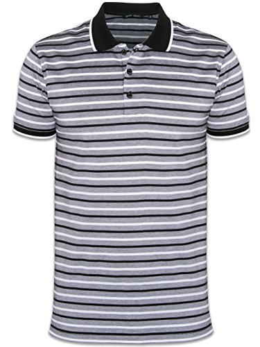 Antony Morato Black Striped Blank Page Polo Shirt XX-Large