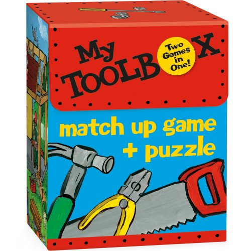 Cheap Fun Peaceable Kingdom / 'My Toolbox' 2-in-1 Match Up Memory Game & Floor Puzzle (1593954727)