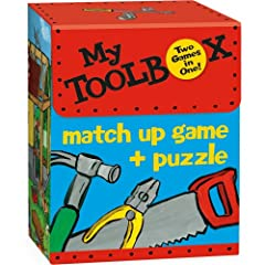 Amazon.com: MG11 - My Toolbox Match Up Game + Puzzle (Cards): Peaceable Kingdom Press, Ken Wilson-Max: Books