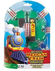 POOF-Slinky 0X5478 Ideal Mexican Train Game Set with Electronic Sound Effect Game Hub and Train Markers