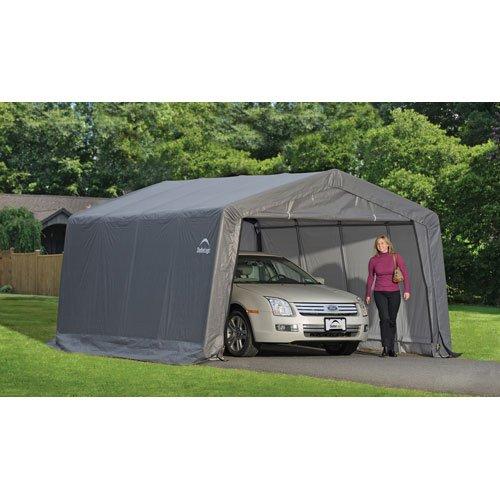 Shelterlogic Shelter 10 12 Gray : Price comparisons for shelterlogic garage in a box gray