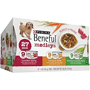 Purina Beneful Medleys Variety Pack Dog Food 27-3 oz. Cans (2 Pack)
