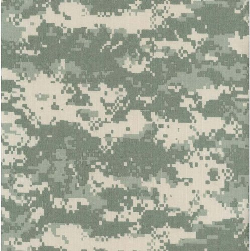 Army Digital Camouflage Nylon/Cotton RIPSTOP Fabric Print by the Yard (5002F-4K) (Digital Camouflage Fabric compare prices)