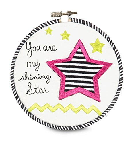 """Pavilion Gift Company 38182 Embroidered Wall Covering, 5-1/2"""", You Are My Shining Star"""