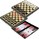3-in-1 Magnetic Travel Game Set by Trademark Games Black
