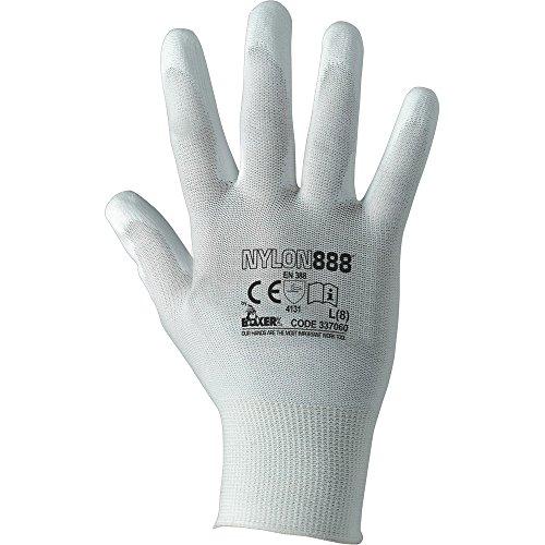 36 paia guanti lavoro donna in nylon palmo poliuretano tg 6-7 puliamo il mondo