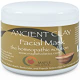 Pure Clay Mask Treatment - 100% Pure French Green, Bentonite, and Fullers Earth Clay Combination - Highest Grade & Quality with Natural Potency - For Men and Women - Great for all skin complexions - Fully Guaranteed By Maple Holistics