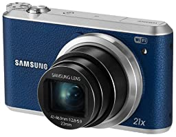 Samsung WB350F - 16.3MP BSI CMOS, 21X Optical Zoom, 3-inch LCD touchscreen, 1080p HD Video, Smart WiFi and NFC Digital Camera - Blue