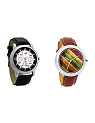 Gledati Men's Black Dial And Foster's Women's Multicolor Dial Analog Watch Combo_ADCOMB0001850