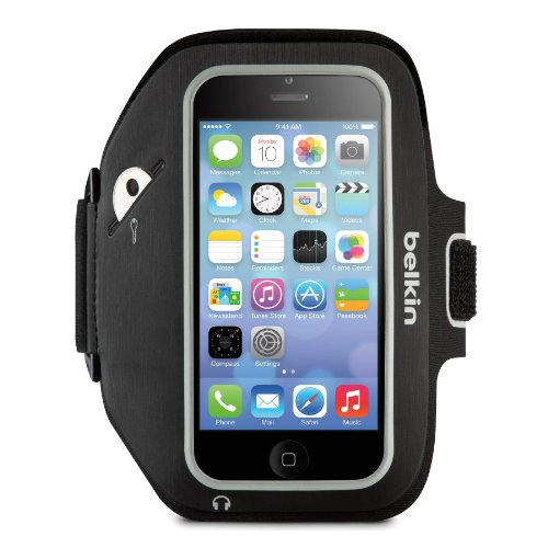 Special Sale Belkin Sport-Fit Plus Armband for iPhone 5, 5S, 5c and iPod touch 5th Generation (Blacktop / Overcast)