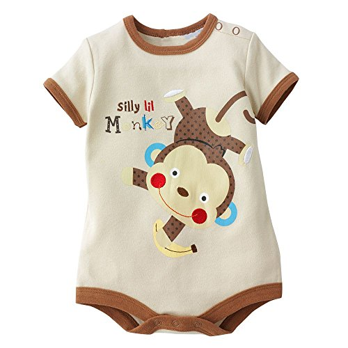 Baby Box Newborn Baby Boy Short Sleeve Romper Jumpsuit One Piece
