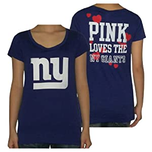 Womens NFL York Giants T Shirt by Pink Victoria's Secret by Pink Victoria's Secret
