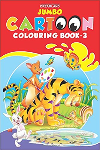 buy jumbo cartoon colouring book 3 jumbo cartoon colouring books book online at low prices in india jumbo cartoon colouring book 3 jumbo cartoon - Colouring Books