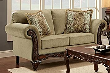Chelsea Home Furniture Shayla Loveseat, Ashanti Platinum