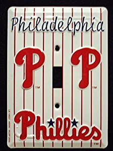 Philadelphia Phillies MBL Aluminum Novelty Single Light Switch Cover Plate