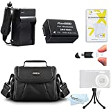 Essential Accessory Kit For Panasonic Lumix DMC-FZ70 DMC-FZ70K DMC-FZ60K DMC-FZ100 DMC-FZ40 DMC-FZ47 DMC-FZ150 Digital Camera Includes Replacement DMW-BMB9 Battery (With Info Chip!) + Charger + Case +