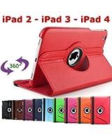 Generic 3662855000078A Etui pour iPad 2/3/4 Rouge