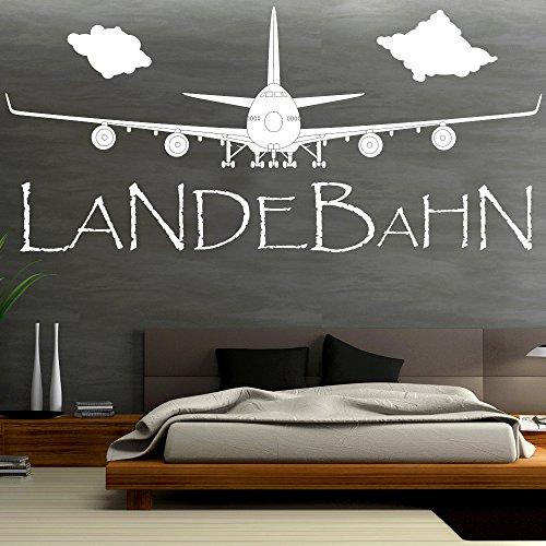 wandtattoo loft wandaufkleber flugzeug landebahn. Black Bedroom Furniture Sets. Home Design Ideas