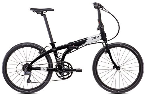 tern (turn) Node D16 2015 24 inch folding bicycle [16 speed, front and rear derailleurs, black / white 15NOD1BKWH