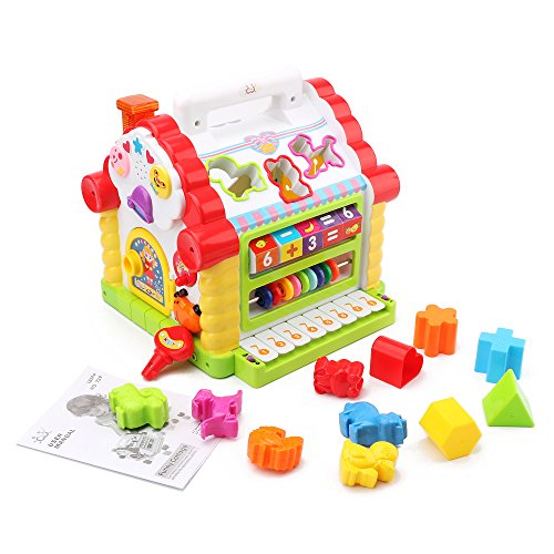 Wishtime-Activity-Cube-Toy-Learning-Cottage-Music-Lights-Learning-Games-Animal-Shape-Cubes