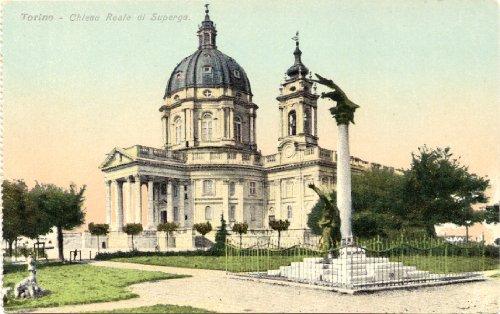 1910 Vintage Postcard Cheisa Reale di Superga
