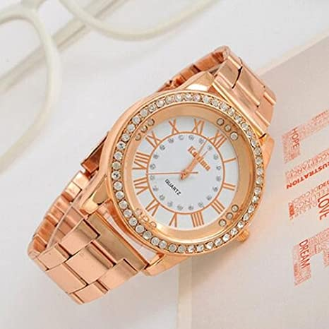 LightInTheBox Women's Watch Big Dial Rhinestone Rose Gold Watch Designer Watch Christmas Gift Present