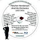 Fletcher Henderson (1932 - 1933) Restored for Blu-ray Audio Featuring Audio Only and Video Disc Produced with Short Films by Charly Chaplin