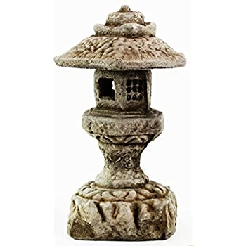 Hexagonal Pagoda Concrete Lantern Asian collection