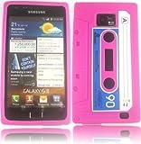 Retro Cassette Silicone Case Cover Shell For Samsung Galaxy S2 i9100 / Pink Design