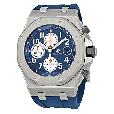Audemars Piguet Royal Oak Offshore Blue Dial Chronograph Mens Watch 26470STOOA027CA01