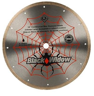 QEP 6-1008BW 10-Inch Black Widow Micro-Segmented Rim Diamond Blade, 5/8-Inch Arbor, Wet Cutting, 6115 Maximum RPM from QEP