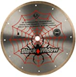 QEP 6-1008BW 10-Inch Black Widow Micro-Segmented Rim Diamond Blade, 5/8-Inch Arbor, Wet Cutting, 6115 Maximum RPM