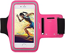 [Apple New iPhone 6 (4.7-inch) Armband] iXCC ® Racer Series Easy Fitting [Sport Gym Bike Cycle Jogging Running Walking] Armband - Featured with Sweat Proof, Dual Arm-Size Slots and Key Pocket[Pink]