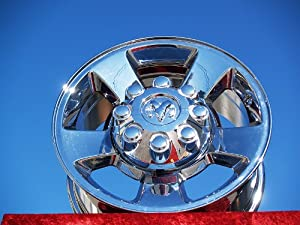 Dodge Ram 1500/2500/3500: Set of 4 genuine factory 17inch chrome wheels