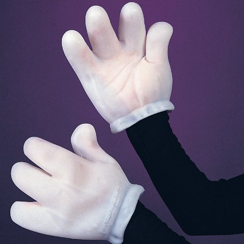 Adult Cartoon Hand White Gloves