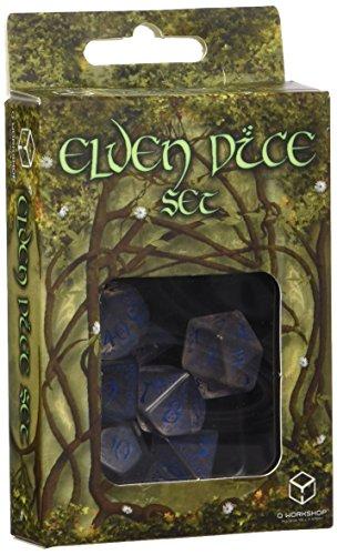 Elvish Dice Transparent/Blue (7) (Cool Dice compare prices)