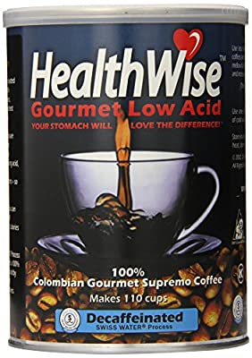 Healthwise Low Acid Columbian Gourmet Supremo Decaffeinated Coffee, 12 Ounce by HealthWise