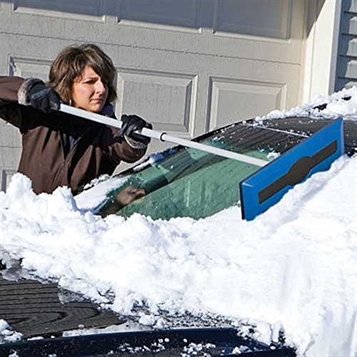 Buy Telescoping Snow Broom with Scraper