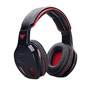 VersionTech Black Professional Bluetooth Wireless PC LED Light Gaming Bass Stereo Noise Canelling Over-ear MP3 Headset Headphone Earphones Headband with Mic HiFi Driver For Laptop Computer Apple iPhone 6 iPhone 6 Plus iPhone 5S HTC One M9 M8 Sony Xperia L