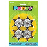 Plastic Sheriff Badges Party Favors, 4ct