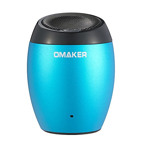 Omaker M1 Ultra Portable Metallic Mini Wireless Bluetooth Speaker With 3.5 Mm Aux Port Loud And Enhanced Bass Boost,Hands Free With Built In Mic Speaker System And Rechargeable Big Capacity Polymer Lithium Battery-Compatible With All Bluetooth Enabled Med