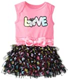 Baby Glam Baby-Girls Newborn Skirted Creeper with Attached 5 Layers, Sugar Plum, 3-6 Months