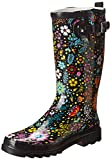 Western Chief Women's Garden Play Rain Boot, Black, 8 M US