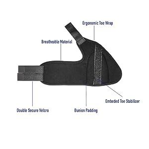 Bunion Splint Hallux Valgus Deformity Corrector Big Toe Straightener - Help to Relief Foot Pain! Toe Seperator