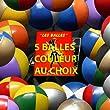 Lot de 5 balles de jonglerie souple ACE 110g VIOLET/BLANC complet avec sac de rangement PassePasse et livret 24 pages en Fran�ais