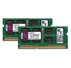Kingston Technology 8GB Kit (2x4 GB Modules) 1066MHz DDR3 SODIMM Notebook Memory for Select Apple iMac's and Macbooks KTA-MB1066K2/8G