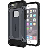 Cubix Impact Hybrid Armor Defender Case For Apple IPhone 6S Plus (Navy Blue)
